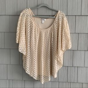 Dress Barn Cream Double Layer Blouse